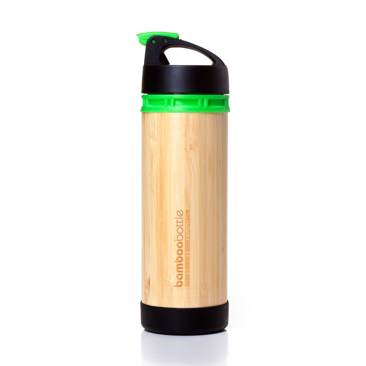 bamboo flip top bottle
