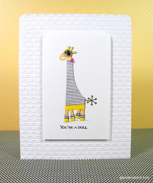 Genny Giraffe, a Happy Card