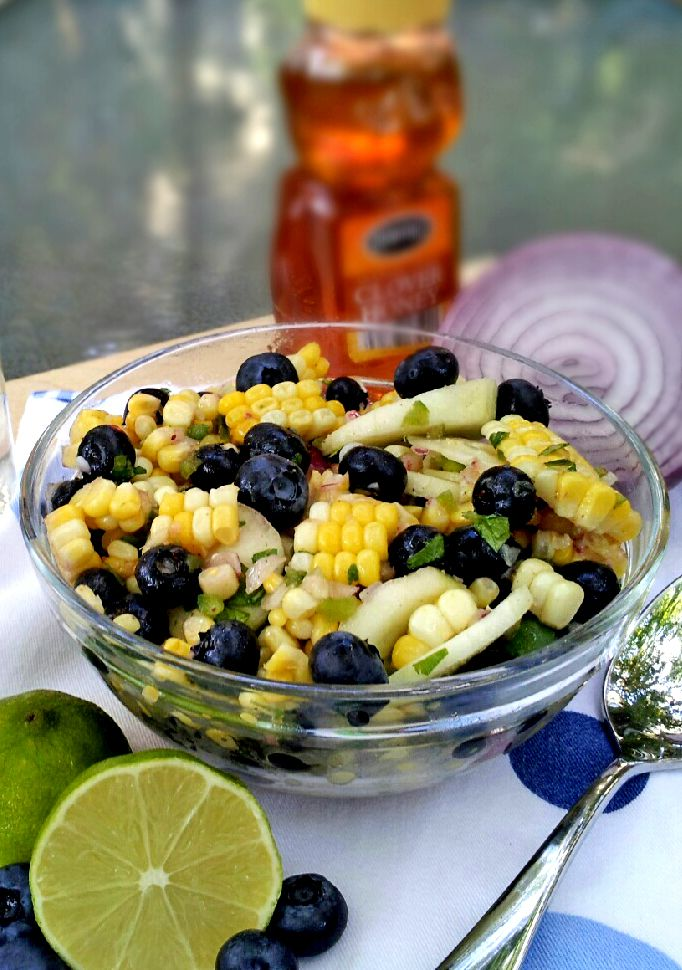 More like this: blueberries , corn salads and blueberry salad .