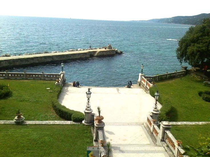 #Miramare Castle-the view from the stairs.