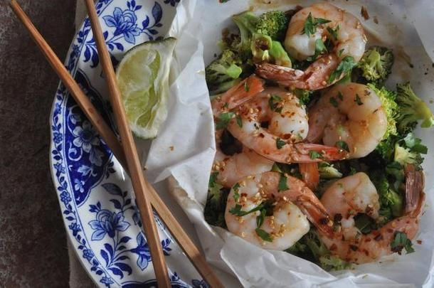 Shrimp and Broccoli en Papillote | Cowgirl Chef | Pinterest