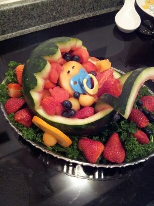 how to make a fruit baby carriage