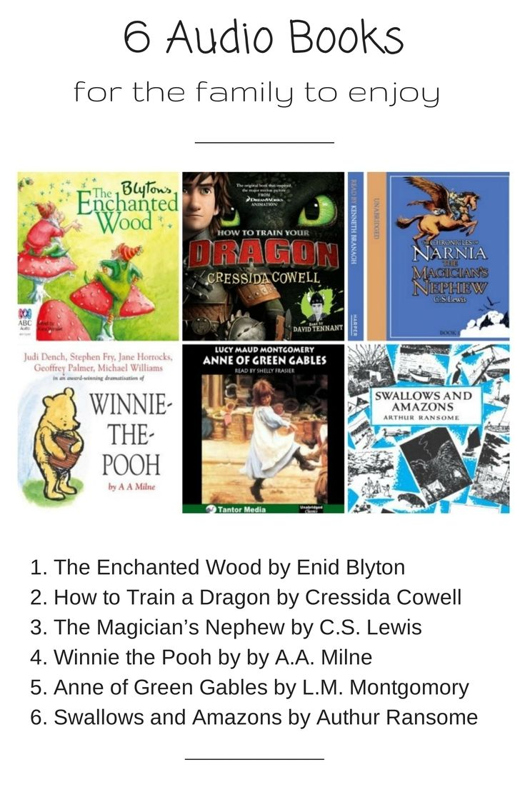 6 Audio Books for the family to enjoy. #sp #audibleau