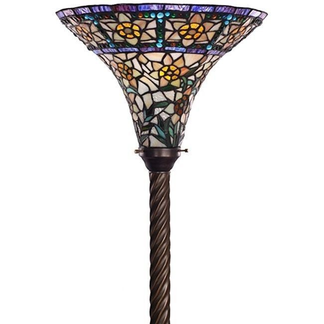 victorian art deco tiffany stained glass torchiere floor. Black Bedroom Furniture Sets. Home Design Ideas