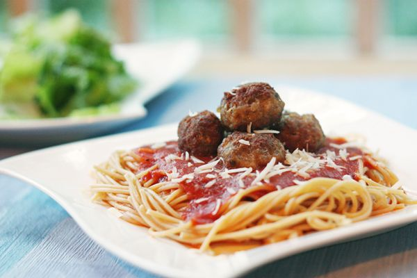 Classic Meatballs. A savory blend of ground beef, ground pork, bread ...