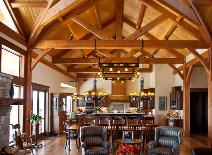 Texas Timber Frame Homes Log Timber Frame Rustic