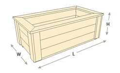 Rectangle Planter Boxes
