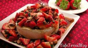 strawberries. I used 1/2 cup strawberry jam, balsamic vinegar, thyme ...