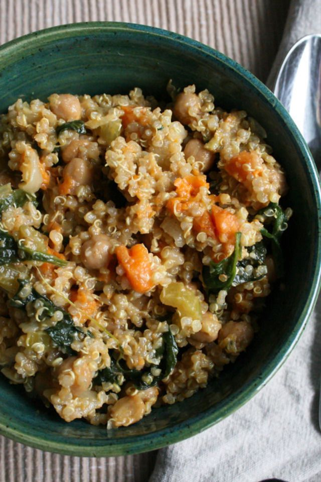 Sweet Potato And Chickpea Stew With Quinoa Recipe — Dishmaps