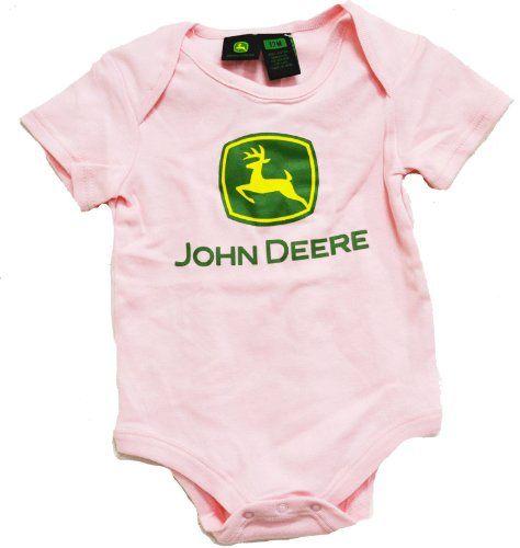 Pink john deere baby clothes john deere baby stuff for John deere shirts for kids