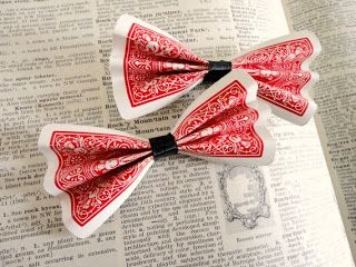 Turn the cards into bows to put on