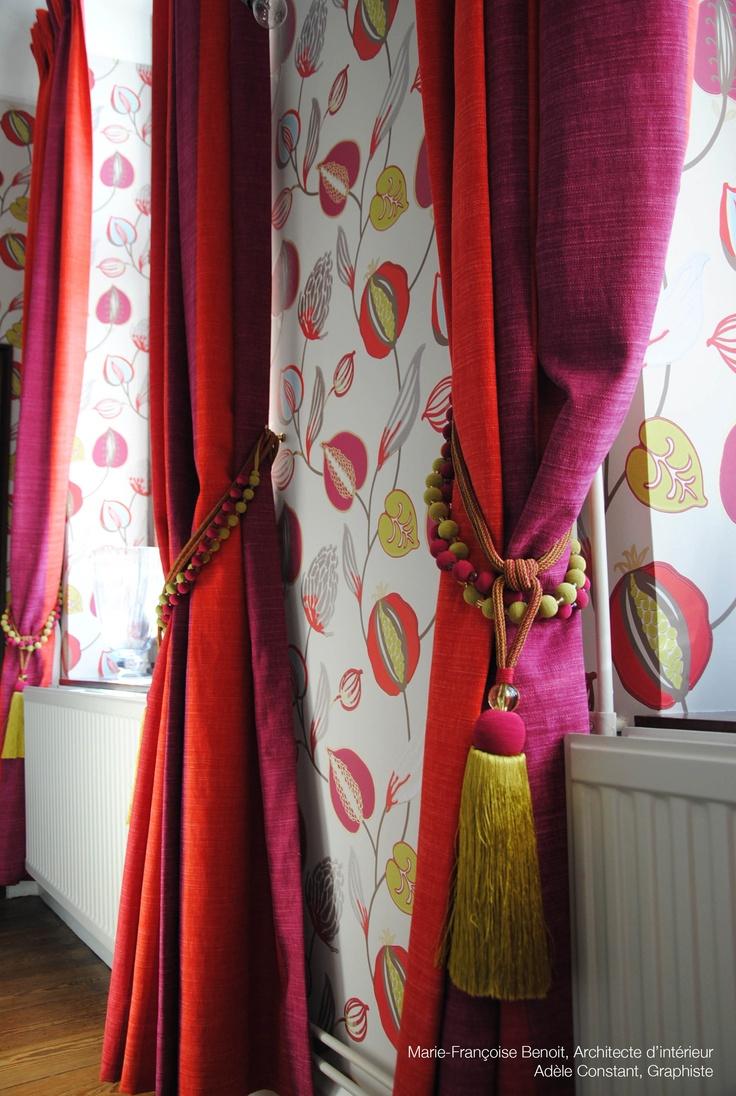 wallpaper tembok & trimmings Harlequin. Fabric Casamance http://www ...