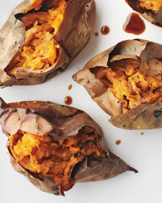 Roasted Sweet Potatoes and Soy Sauce - Preheat oven to 400 degrees ...