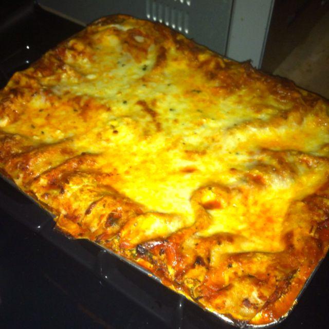 Spinach and Mushroom Veggie Lasagna | Nom-Noms | Pinterest