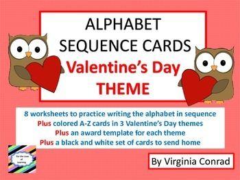 valentine's day sequence worksheet