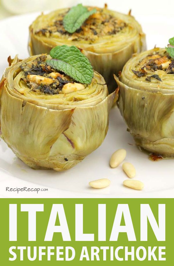 Italian Stuffed Artichoke Recipe | Food | Pinterest