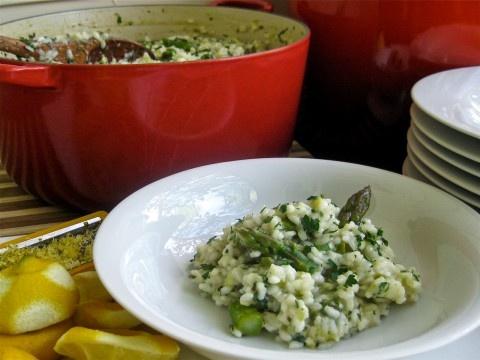 Zesty Vegan Lemon Asparagus Risotto GF, CF, NF, DF http ...