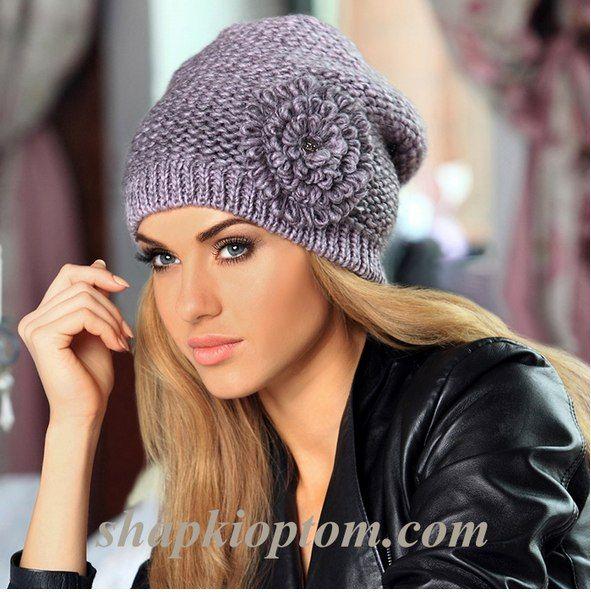 Вязание спицами шапок для девушек схемы вязания