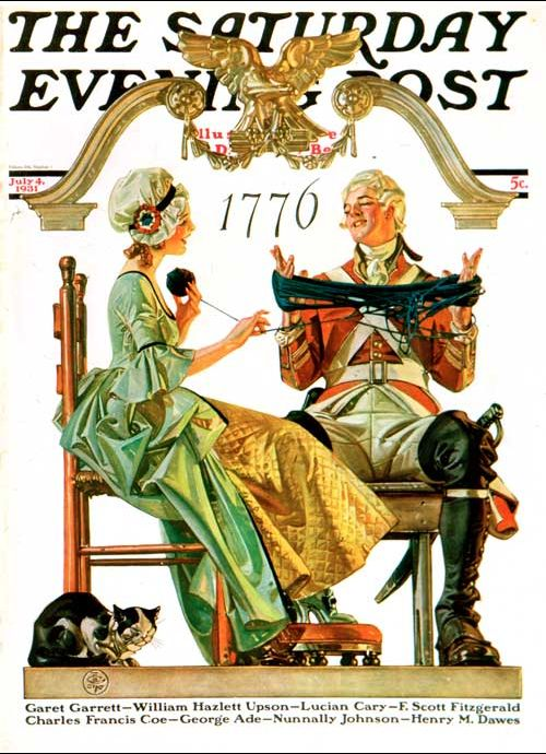 1931 Saturday Evening Post Fourth of July - cover art by J.C. Leyendecker