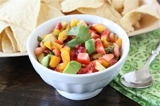 strawberry mango salsa | Yummy! | Pinterest