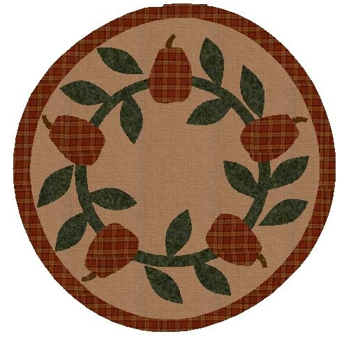 Free Patterns For Quilted Candle Mats : Fall Candle Mat - Free Pattern Quilt - Projects Pinterest