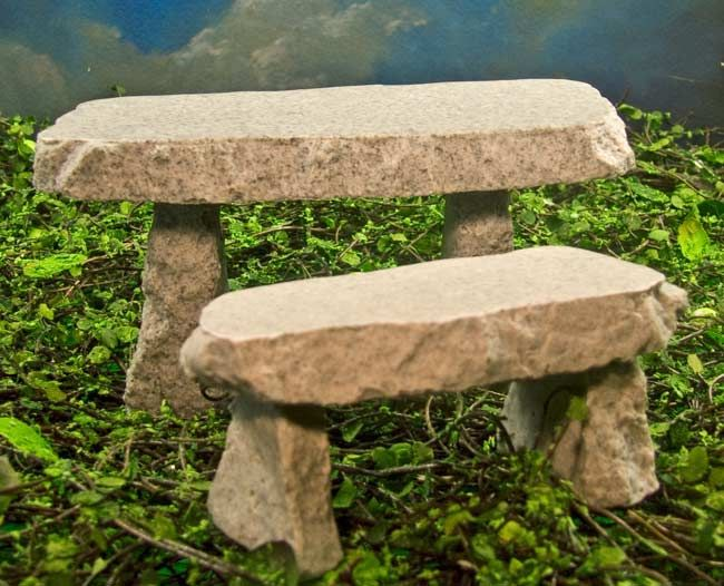 Mini stone bench Stone garden bench