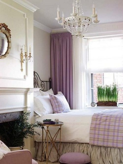 Bedroom lavender home pinterest for Lilac and purple bedroom