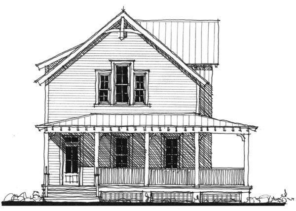 Historic Southern House Plan 73714
