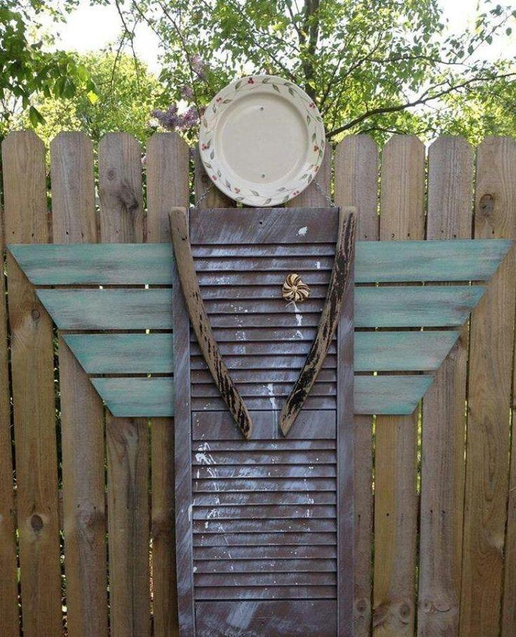 Rustic garden angel from reclaimed wood. | Yard Art | Pinterest