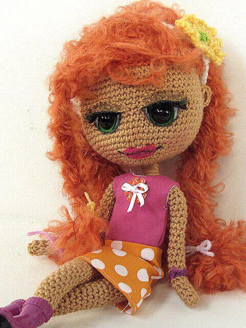 Crocheted Girl by ladynoir63,