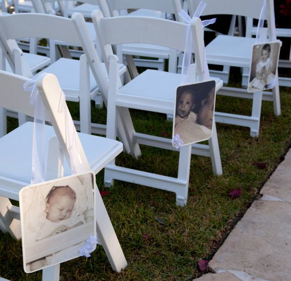 Hanging Photos For Chairs At Wedding Ceremony Or By MadeForYou7141 10000