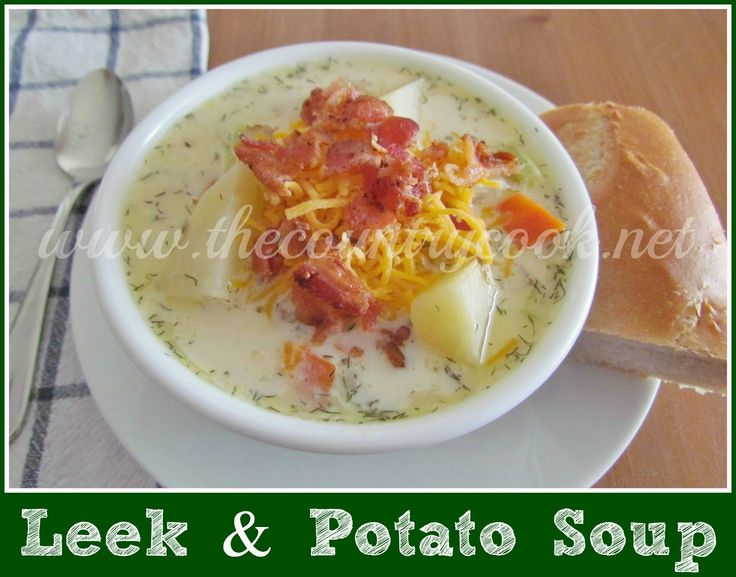 Leek, Potato & Cheddar Soup Recipe — Dishmaps
