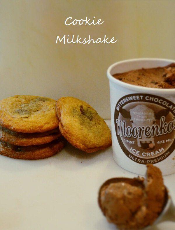 Chocolate Chip Cookie Milkshake. Tastes like an Oreo Cookie Milkshake ...