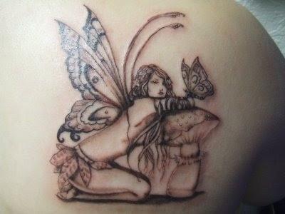 fairy and mushroom tattoo tattoos pinterest. Black Bedroom Furniture Sets. Home Design Ideas
