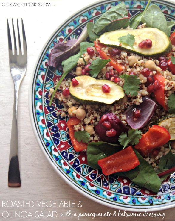 Recipe} Roasted Vegetable & Quinoa Salad with a pomegranate ...