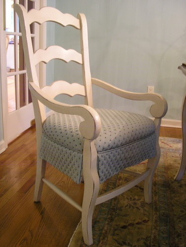 Upholstered Skirted DR Chairs  dining chairs and benches