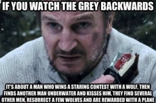 The Grey You Watch Movie Backwards Theberry
