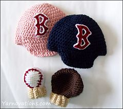 KNITTING PATTERN RED SOX MITTENS | 1000 Free Patterns