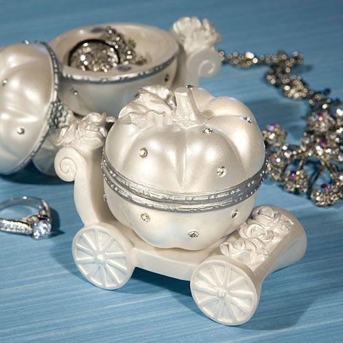 Cinderella Carriage Favor Boxes : Cinderella princess carriage curio box wedding favors