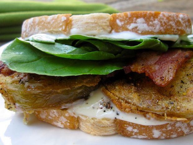 Fried Green Tomato BLT Recipe — Dishmaps
