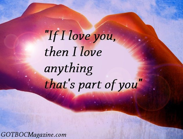 Husband Quotes: If I love you, then I love anything thats part of you ...