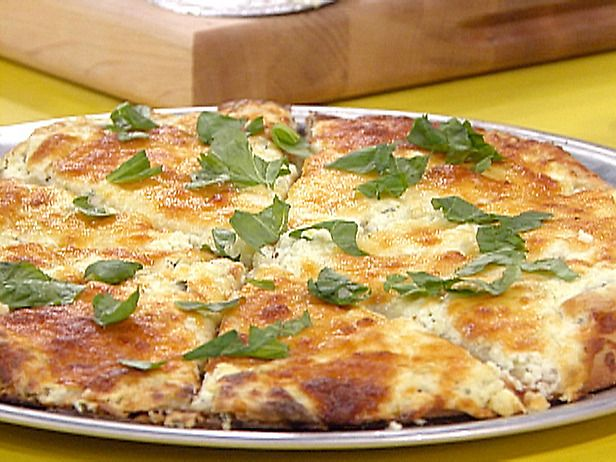 New York style White Pizza Recipe http://www.foodnetwork.com/recipes ...