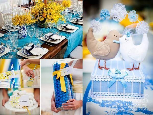 decoracao casamento azul turquesa e amarelo : decoracao casamento azul turquesa e amarelo:Azul e amarelo