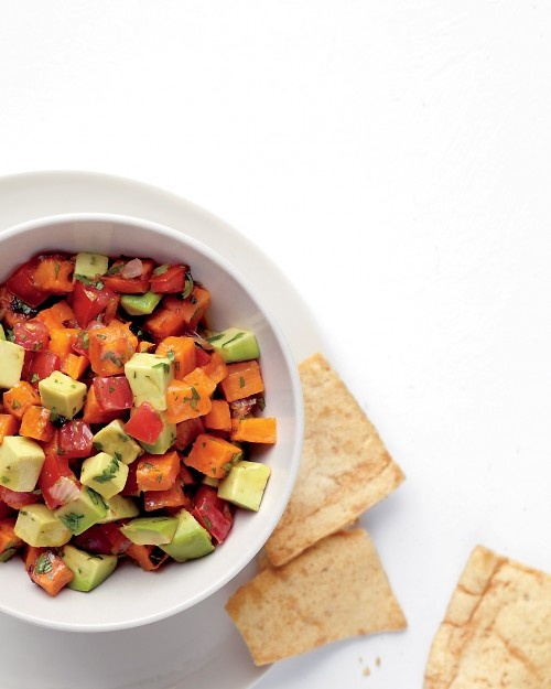 Roasted sweet potato salsa. Thank you for being OCD about this stuff ...