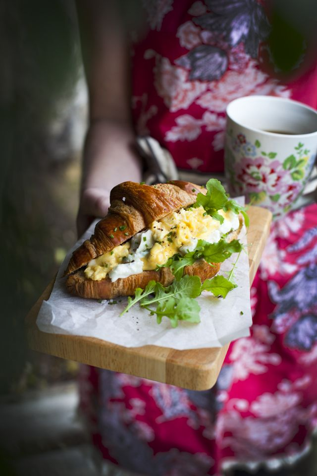 Scrambled Egg Croissant Donal Skehan | this is pretty yummy! | Pinter ...