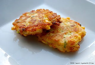 Carrie's Experimental Kitchen: Corn & Cheddar Mashed Potato Fritters