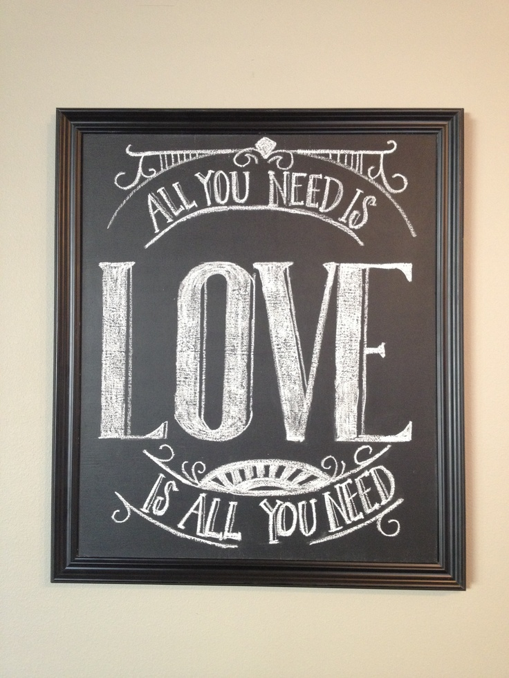 Valentine's Day love chalk board art #beatles