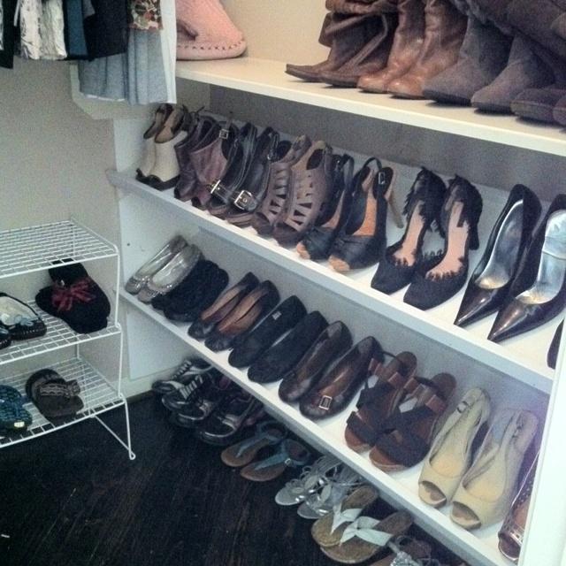 Love my homemade shoe rack