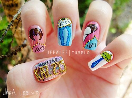 Little bit supernatural hand finger nail art pinterest