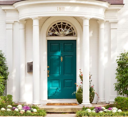Teal front door house ideas pinterest Best color for front door to sell house
